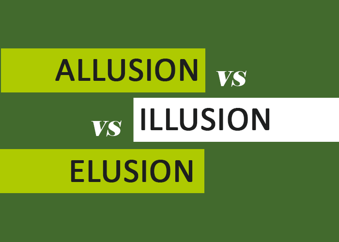 Allusion Vs Illusion Vs Elusion