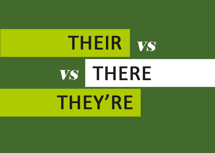Their Vs There Vs They're